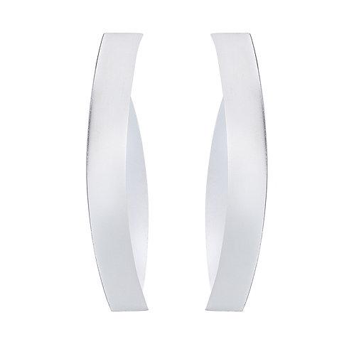 Overpass long silver earrings