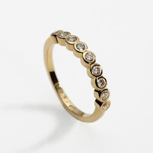 18ct Yellow Gold and Diamond Wedding Ring