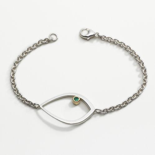 Duille Nua Birthstone silver bracelet