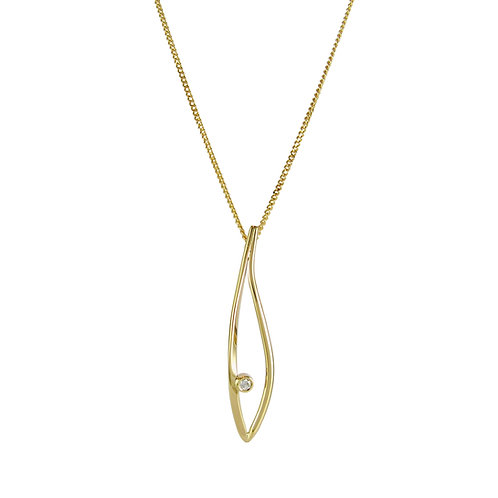 Konifer gold and diamond pendant