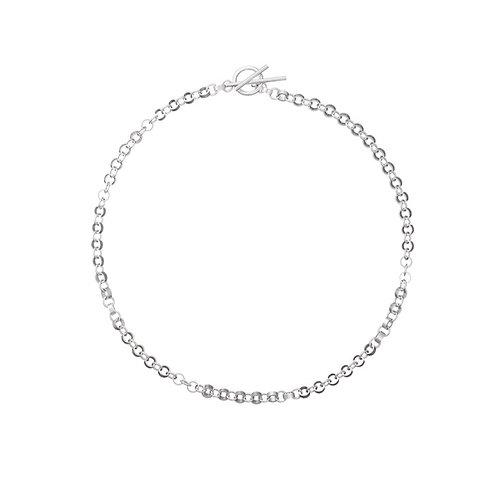 Circuit silver necklace