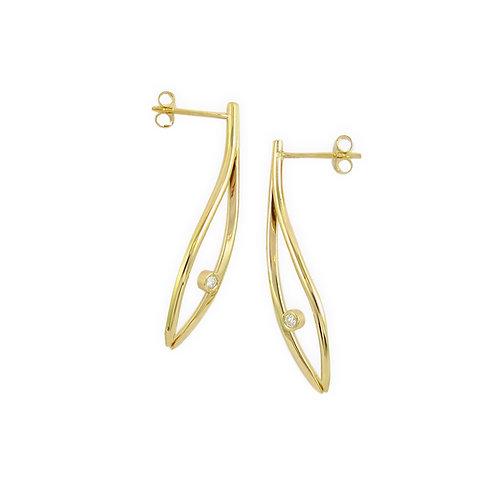 Konifer gold and diamond earrings