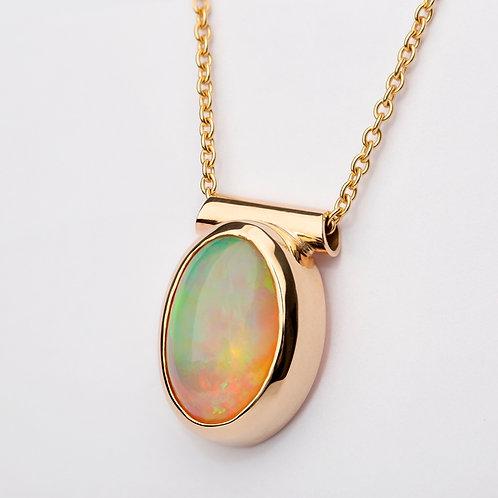 Ethiopian Opal Pendant in 9ct Yellow Gold