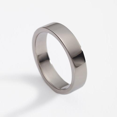 18ct white gold men's wedding ring
