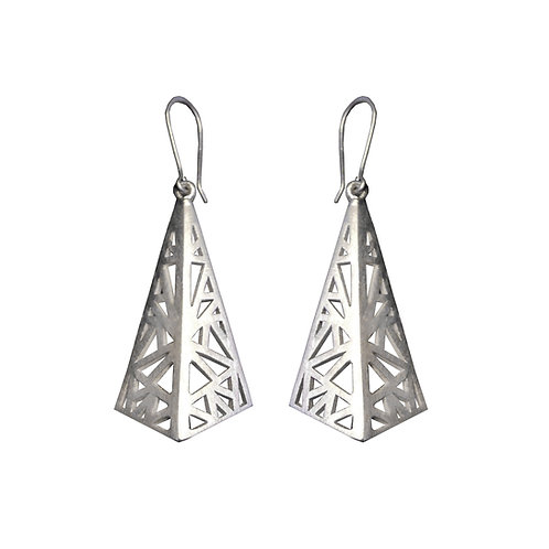 Flare drop earrings