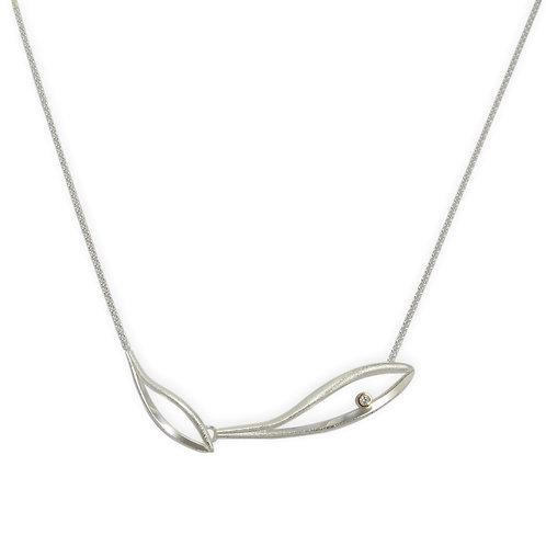 Konifer small silver pendant