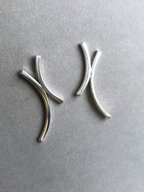 Janus silver earrings