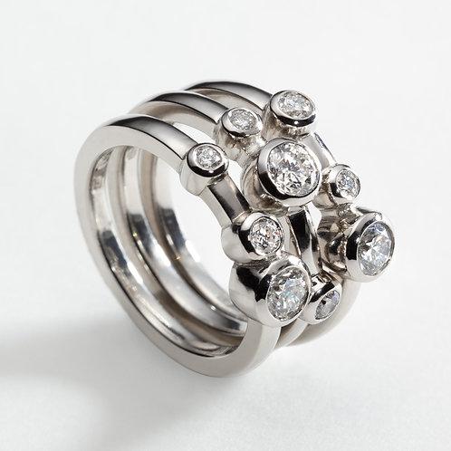Valentia Platinum Diamond Ring