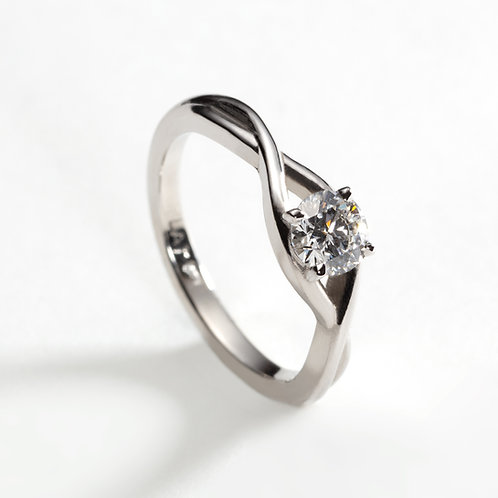 Platinum Achill Solitaire Ring