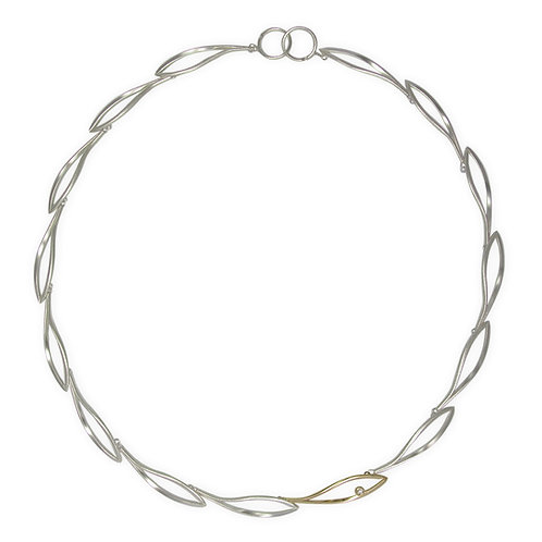 Konifer silver and gold necklace