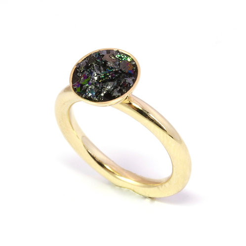 9ct Yellow Gold Urban Geode Ring