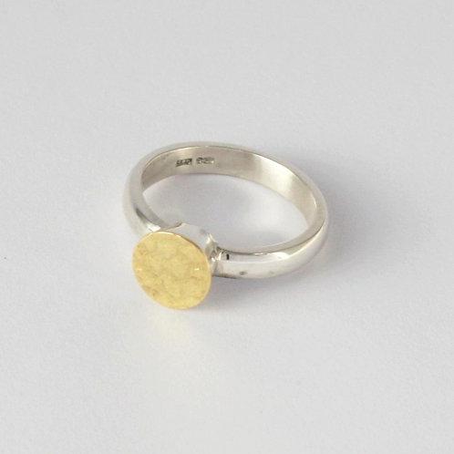 The Golden Hour gold dot ring