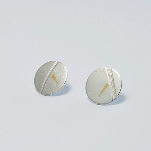 Birds of a Feather disc earrings