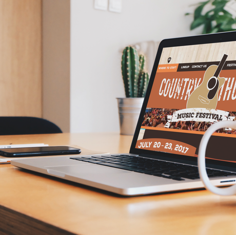 Country Thunder Web Design