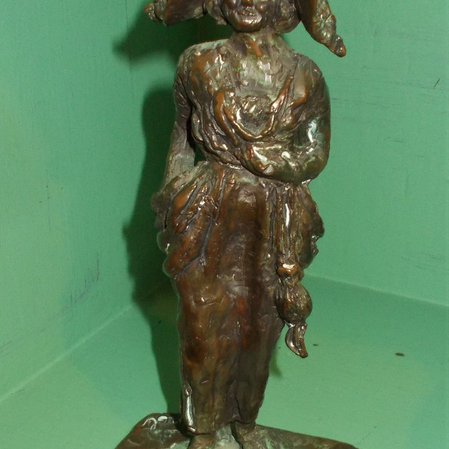 """Bronze Flower Girl """"Carol"""" Sculpture  $90"""