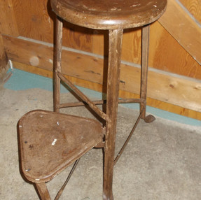 Vintage Swing-Step Bench Stool  $65