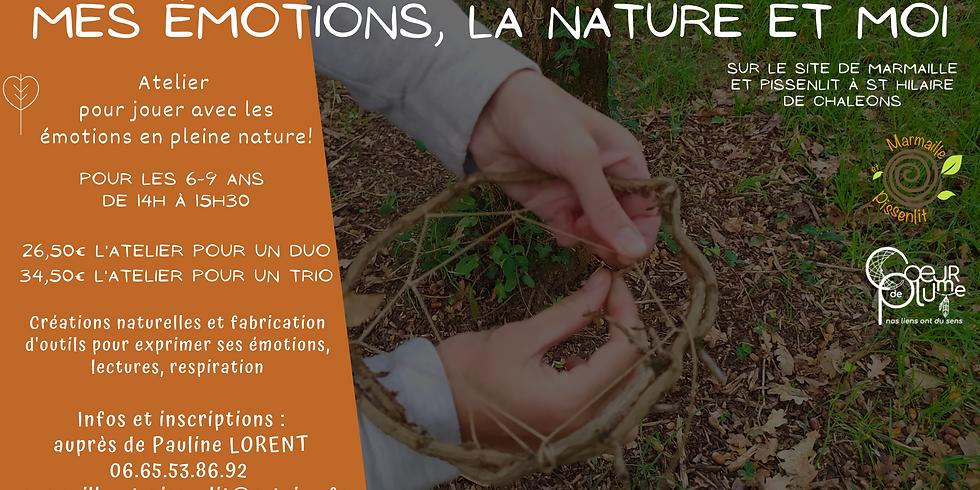 """Atelier en duo """"Mes émotions, la nature et moi"""" 6-9 ans"""