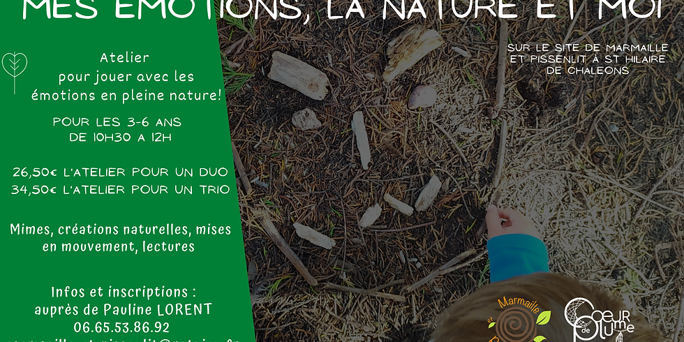 """Atelier duo """"Mes émotions, la nature et moi"""" 3-6 ans"""