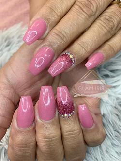 pink acrylics