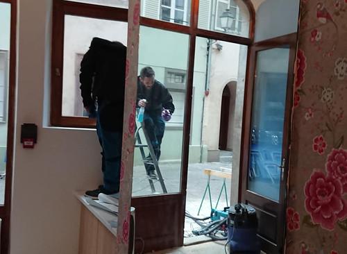 Rénovation vitrine et boiserie