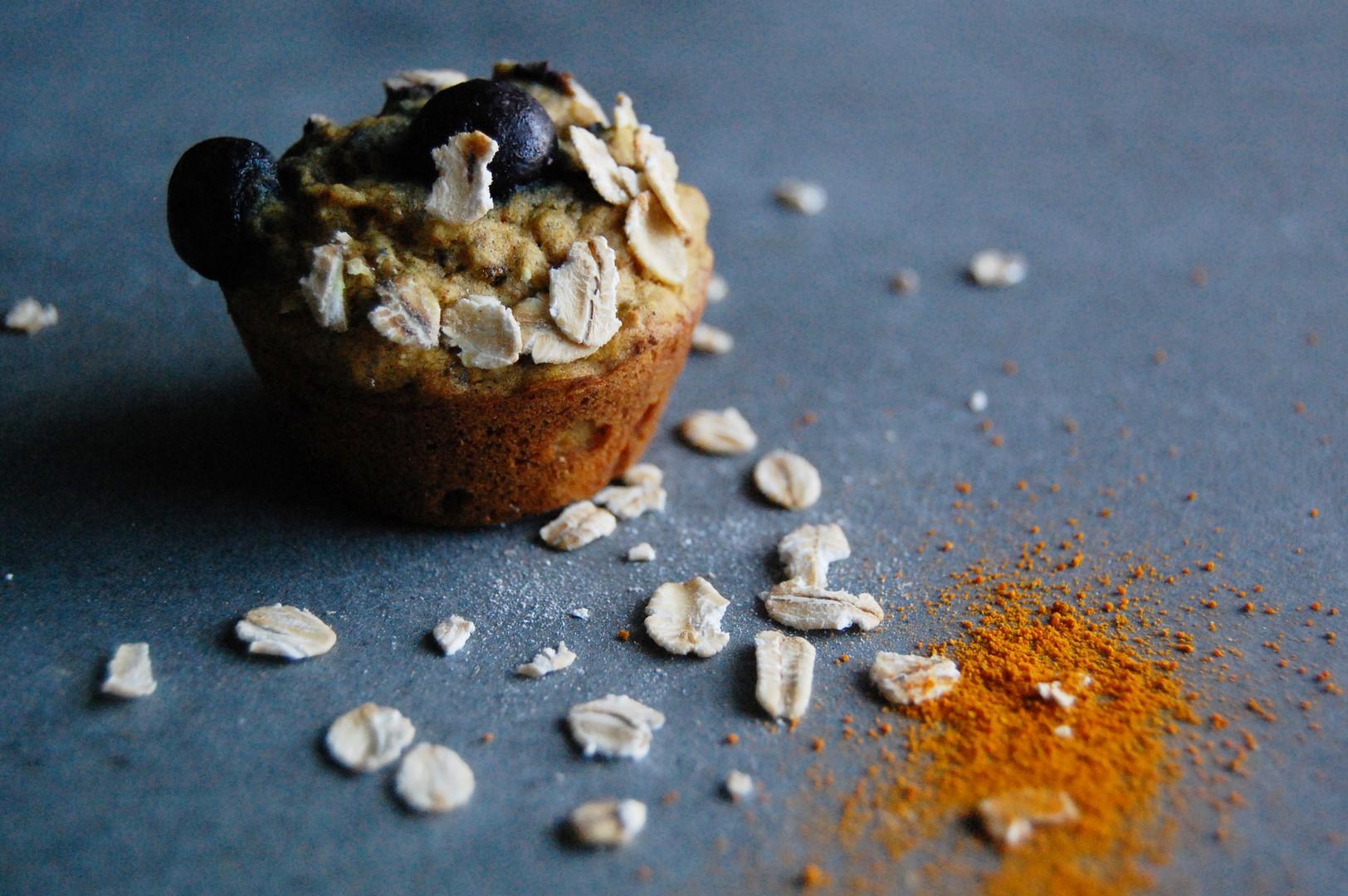 Mini-Muffins bleuets et curcuma