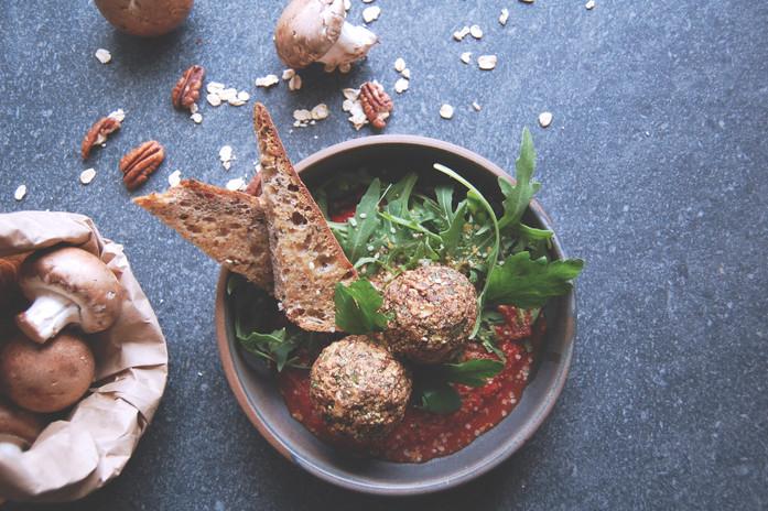 Boulettes vegan aux champignons