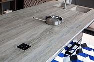 керамическая столешница,индукционная плита