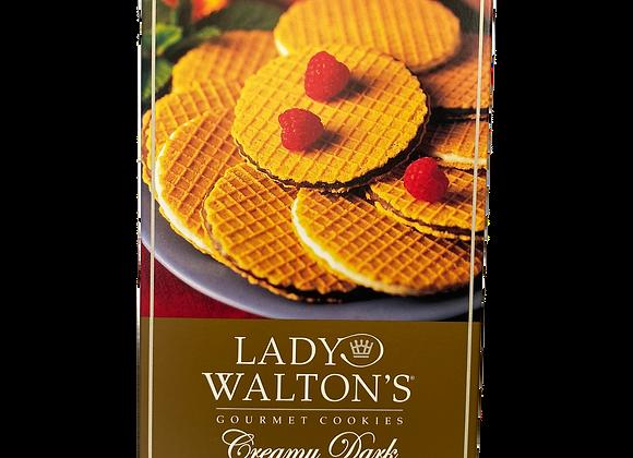 Lady Walton' Creamy Dark Chocolate wafer cookies