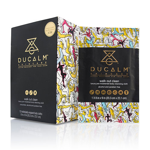 DUCALM Body Cleansing Cloth ~ Box of 12