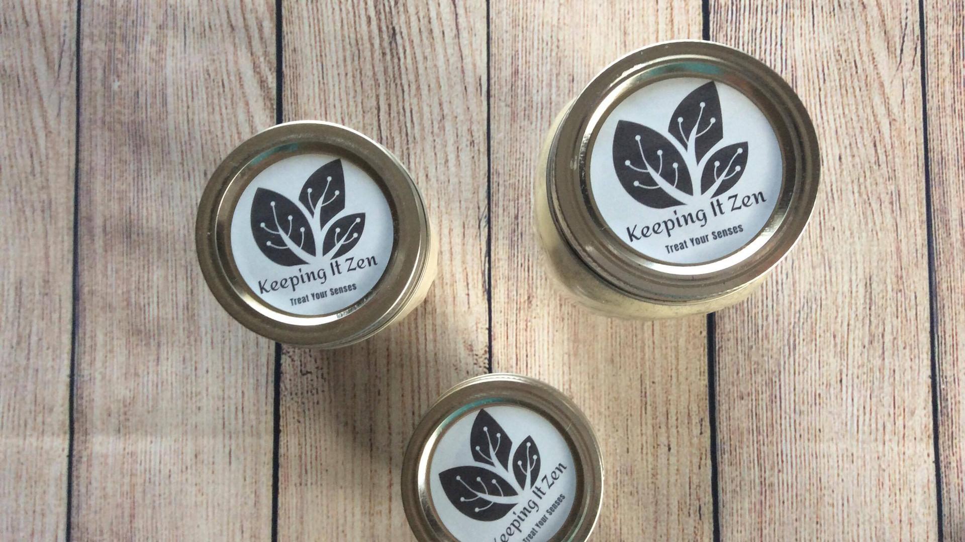 Mason jar candle collection