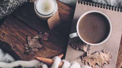 Cozy up with a candle and cocoa!
