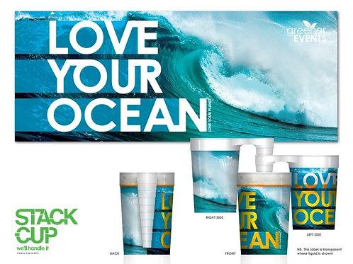 360ml Love Your Ocean (Pack of 4 x Cups)