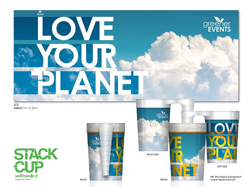 568ml Love Your Planet (Pack of 4 x Cups)