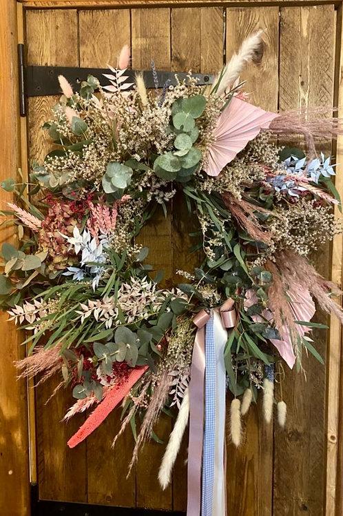 Spring summer door wreath