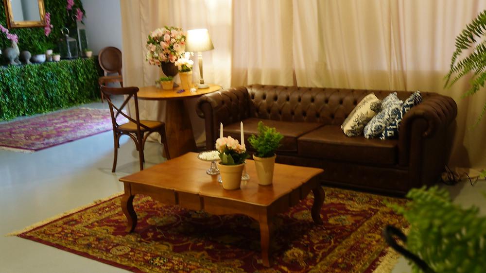 Lounge com Chesterfield em Couro