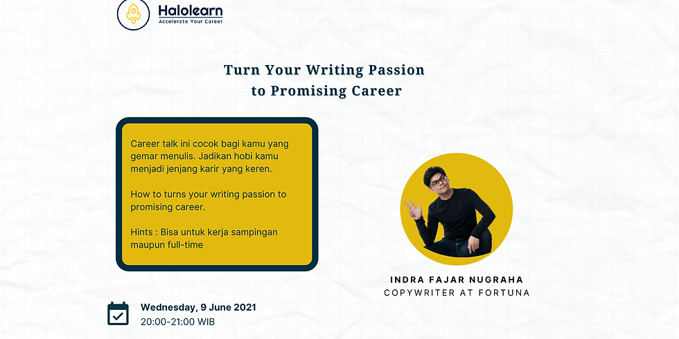 How to Turns your writing passion into promising career