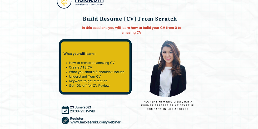How to Build Resume From Scratch