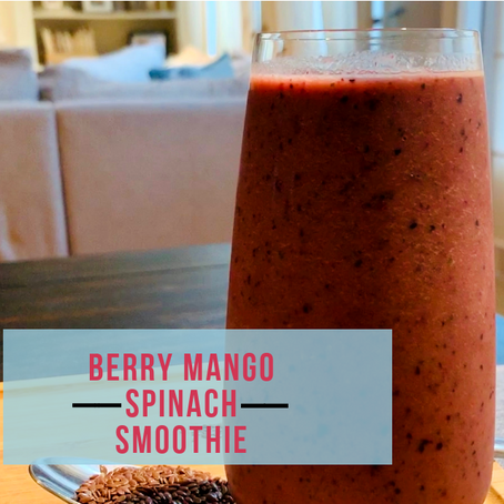Berry Mango Spinach Smoothie