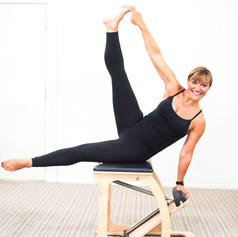 Lateral flexion on the wunda chair.