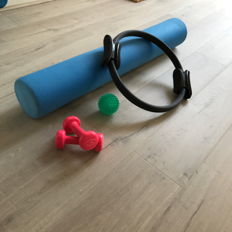 Rollers, rings, balls and weights, just some of the smaller appartus we have in our studio