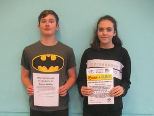 James and Ebony gain youth award