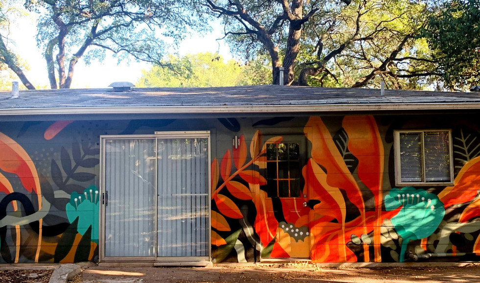 Mural for rental property in Austin TX 2019