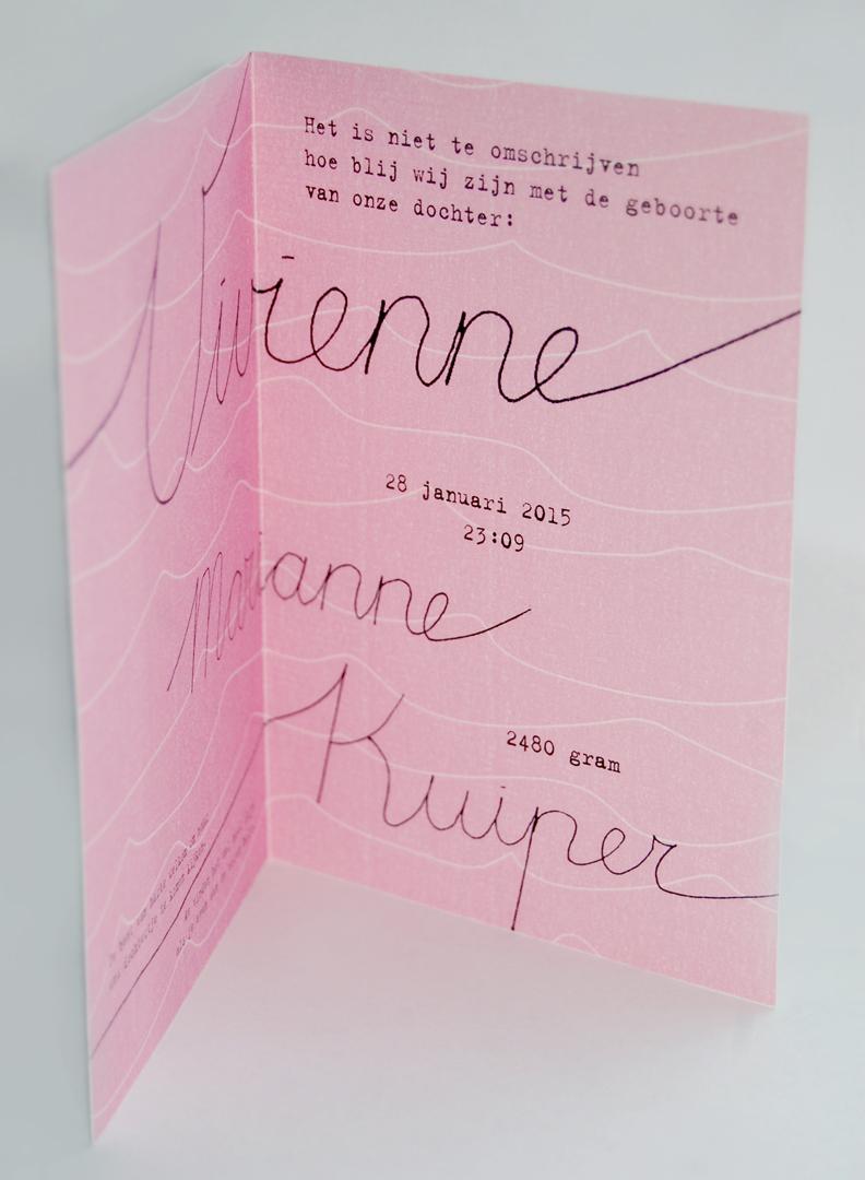 Geboortekaartje voor Vivienne