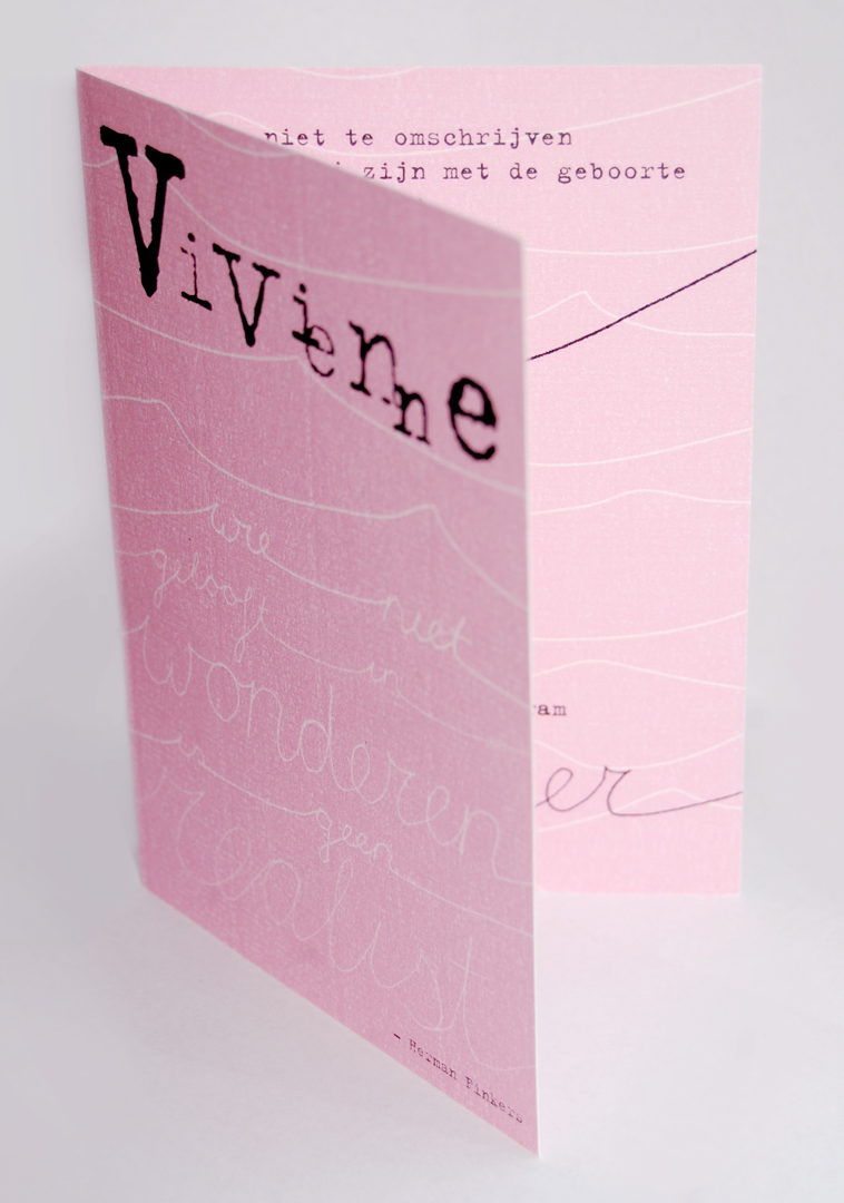 Geboortekaartje Vivienne