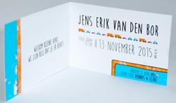 Geboortekaartje voor Jens