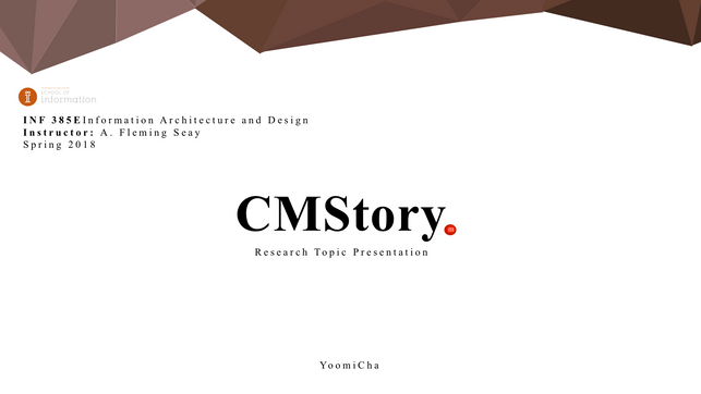 Research Topic Presentation About CMS