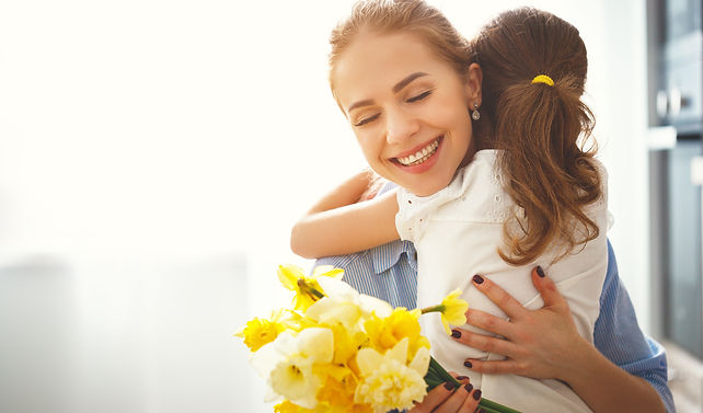 happy mother's day! child daughter congr