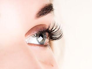 Beautiful young girl eyelash extension.