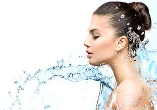 Beautiful Model Woman with splashes of w