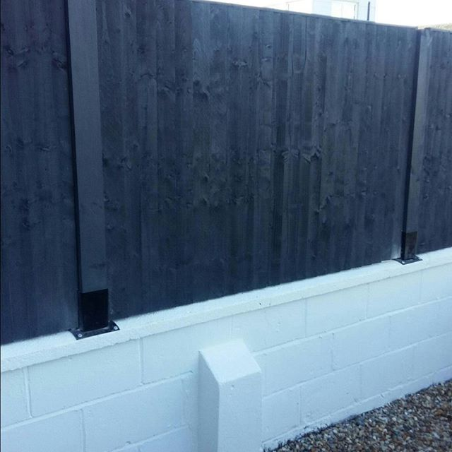 Bespoke fence post brackets made #bespok